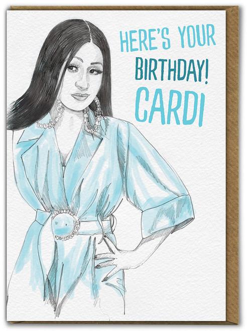 Birthday Cardi Greetings Card