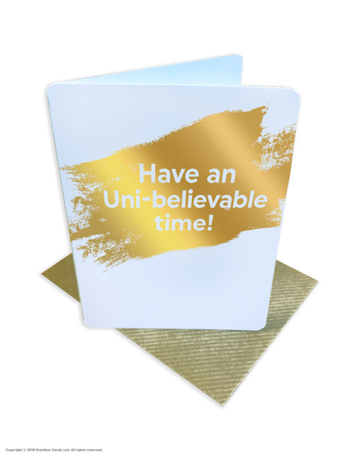 Uni-believable Time (Gold Foiled) University Card