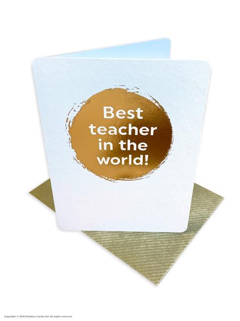 Best Teacher (Gold Foiled) Greetings Card
