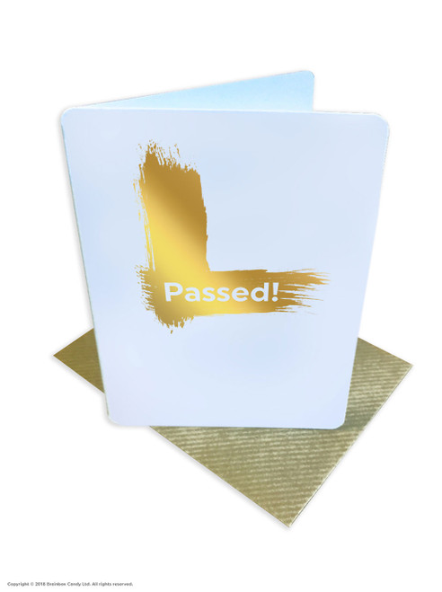 Passed Driving Test (Gold Foiled) Greetings Card