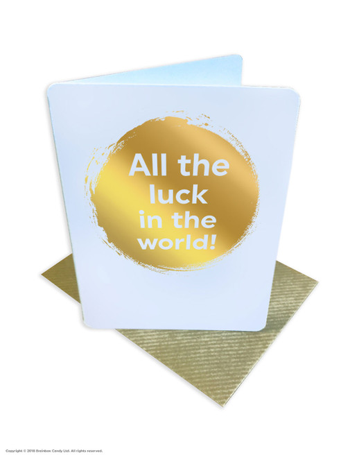 All The Luck In The World (Gold Foiled) Good Luck Card