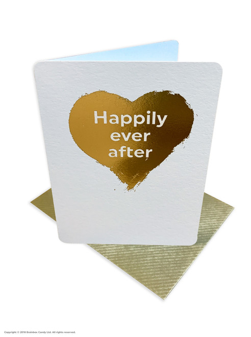 Happily Ever After (Gold Foiled) Wedding Card