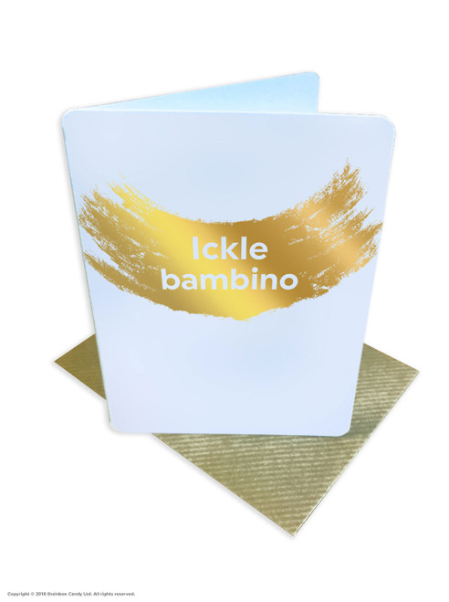 Ickle Bambino (Gold Foiled) New Baby Card