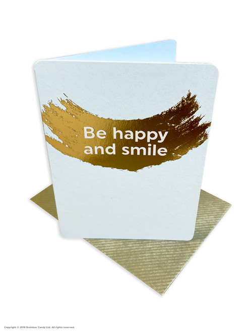 Be Happy And Smile (Gold Foiled) Birthday Card