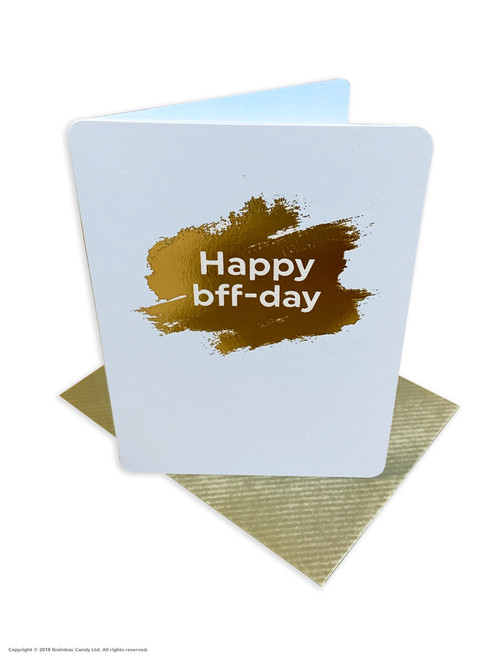 Happy BFF Day (Gold Foiled) Birthday Card