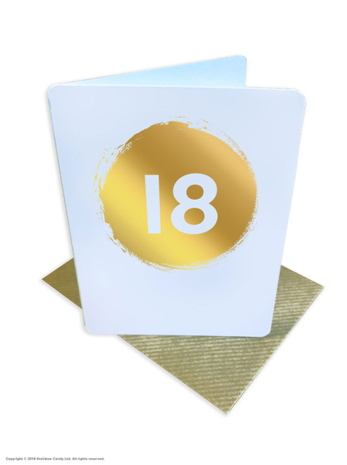 18th Birthday (Gold Foiled) Age Card (DS036)