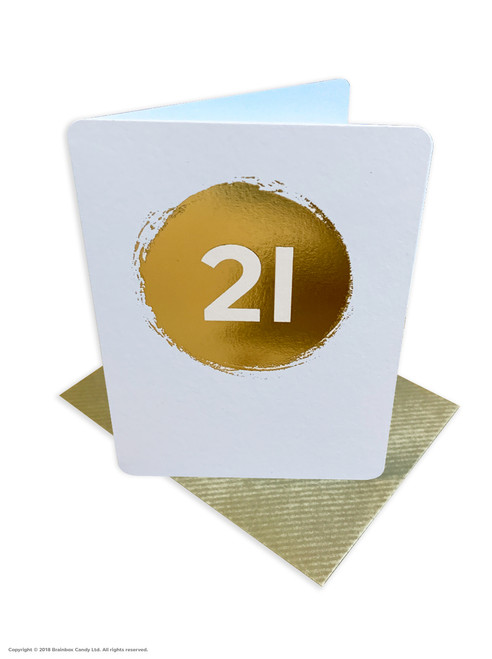 21st Birthday (Gold Foiled) Age Card (DS037)