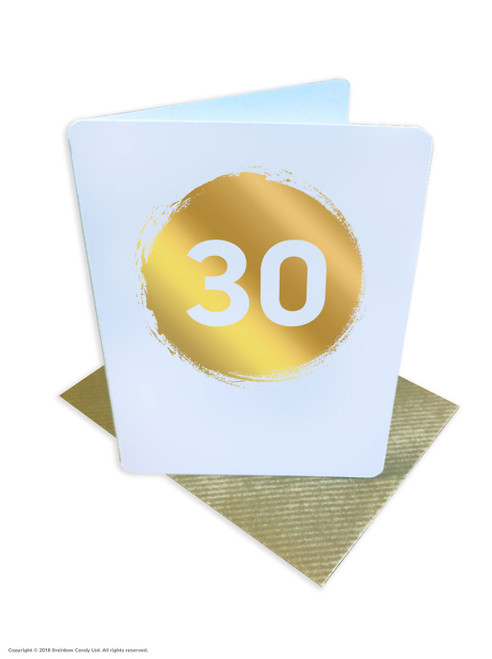 30th Birthday (Gold Foiled) Age Card (DS038)
