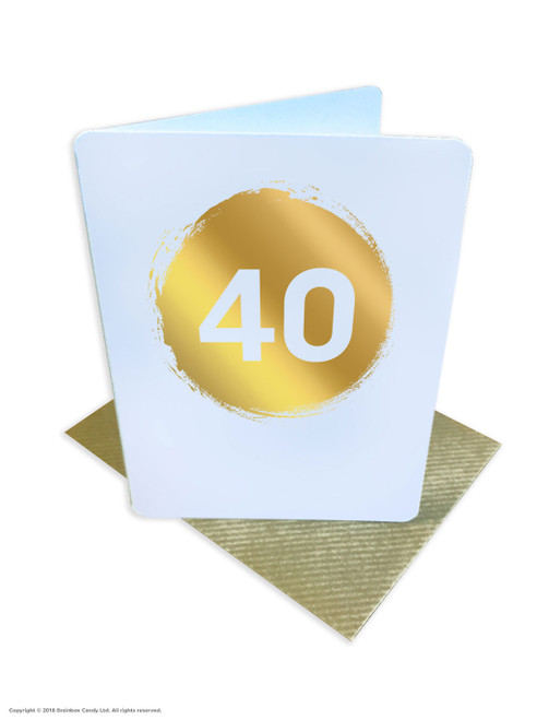 40th Birthday (Gold Foiled) Age Card (DS039)