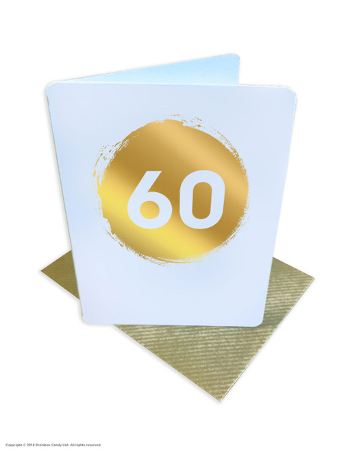 60th Birthday (Gold Foiled) Age Card (DS041)