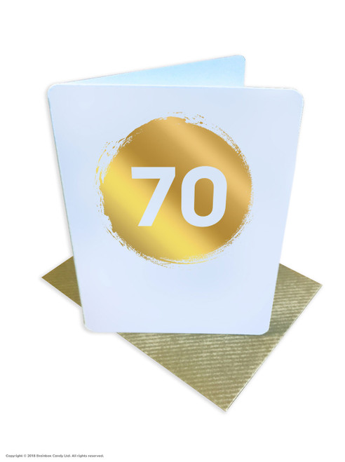 70th Birthday (Gold Foiled) Age Card (DS042)