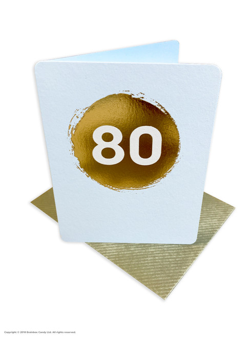 80th Birthday (Gold Foiled) Age Card (DS043)