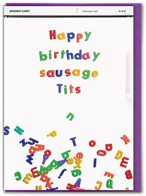 Sausage Tits Birthday Card