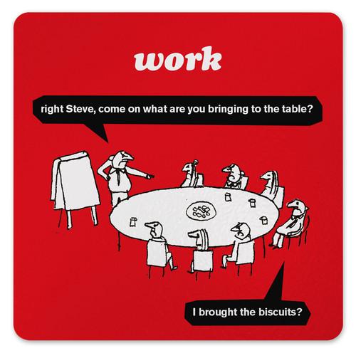 Work Biscuits Coaster