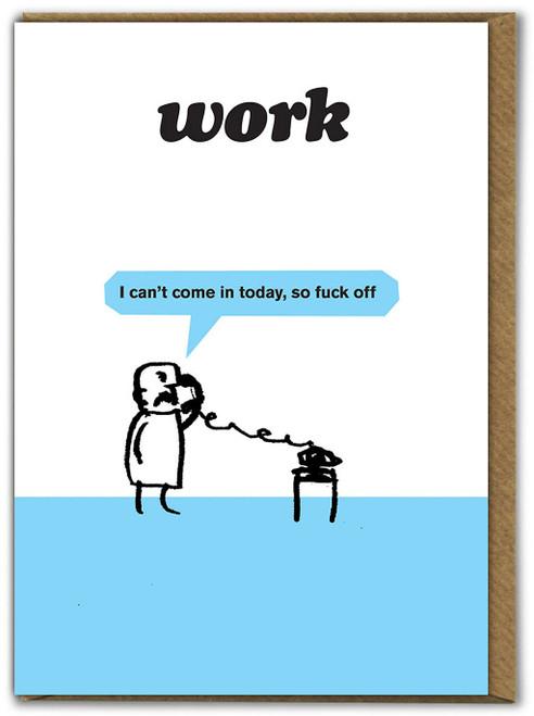 Work Fuck Off Card