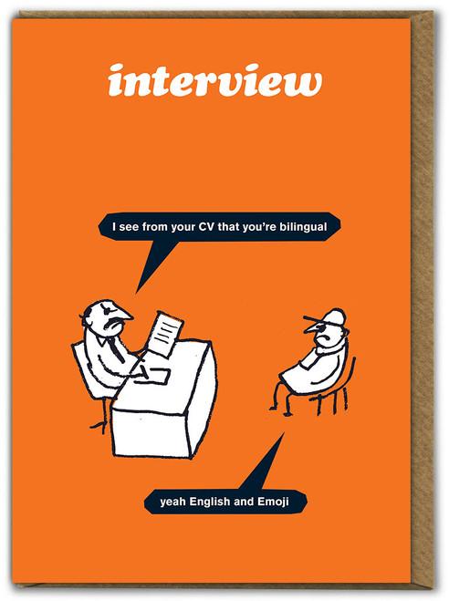 Work Bi-Lingual Card