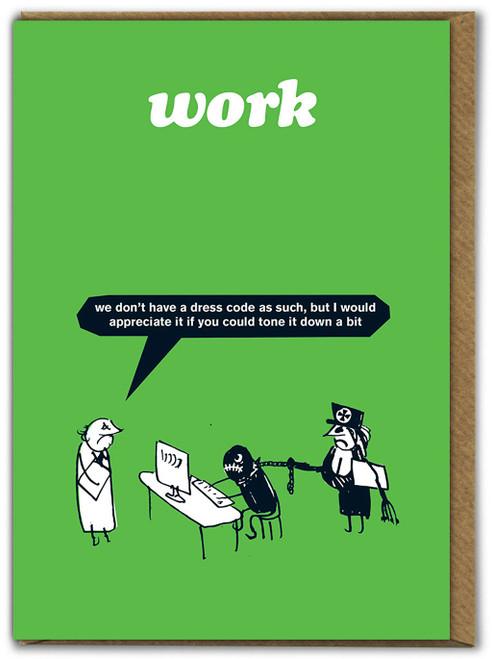 Work Dress Code Card