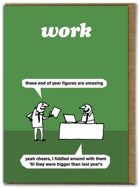 Work Amazing Figures Card