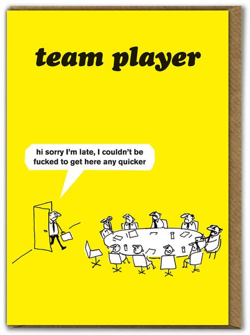 Work Team Player Card