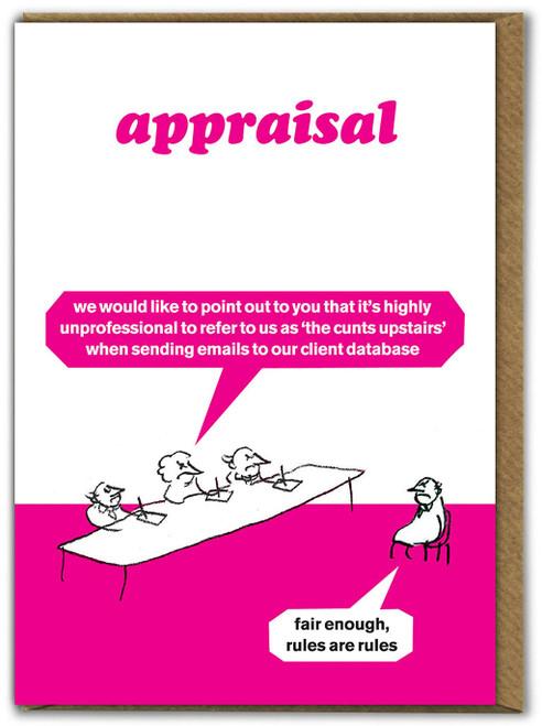 Appraisal Cunts Upstairs Card