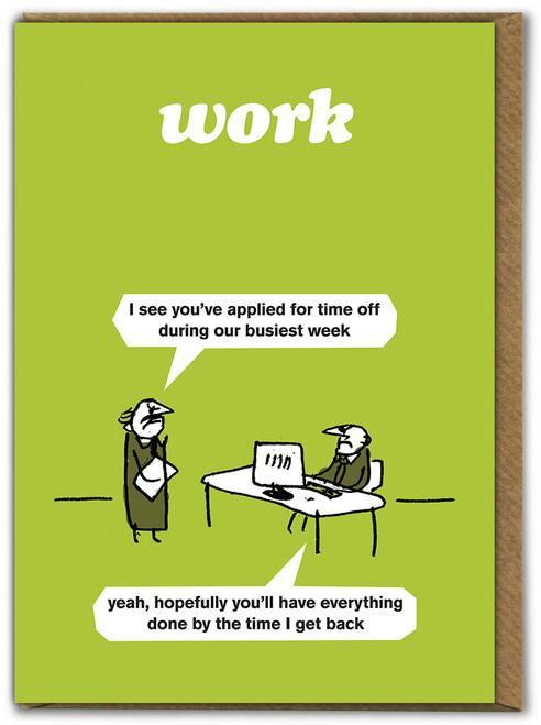 Busiest Week Card