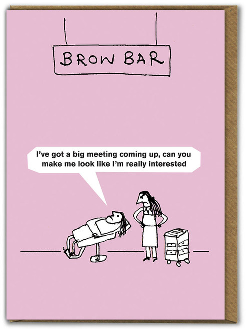 Bodywork Brow Bar Card