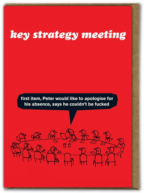 Key Strategy Meeting Card