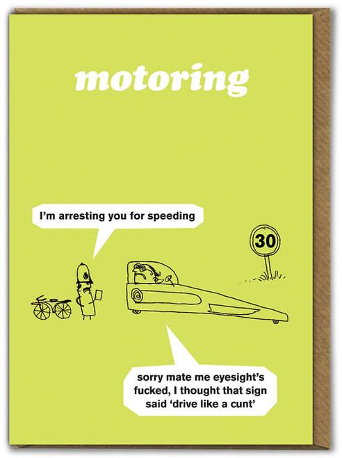 Motoring Speeding Card