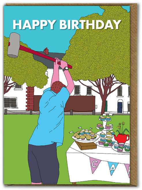 Cup Cake Mallet Card