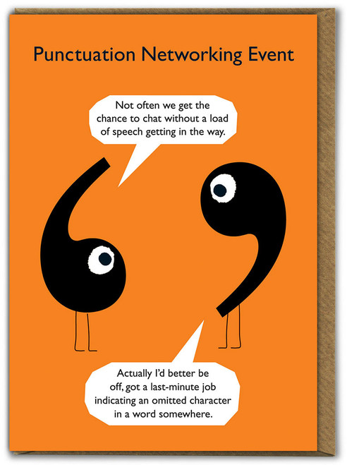 Punctuation Speech Marks Card