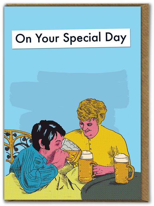 Beer In Bed Card