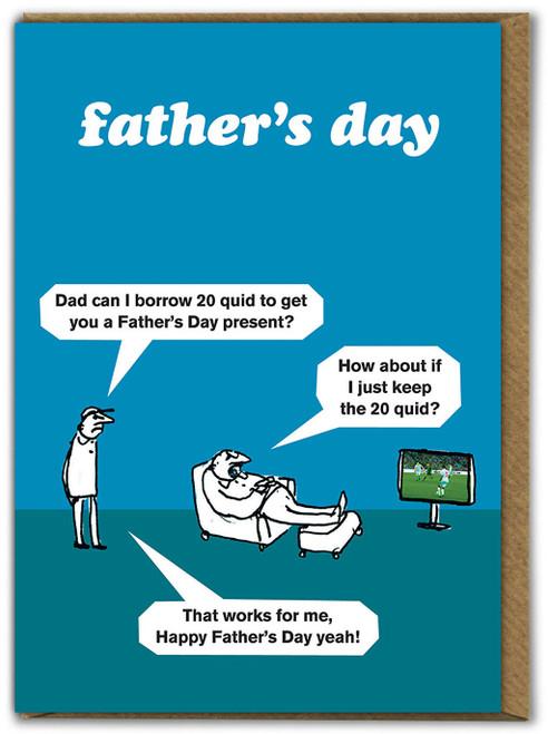Fathers Day - Borrow £20 Card