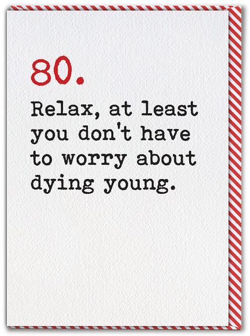 80 Age Typewriter Birthday Card