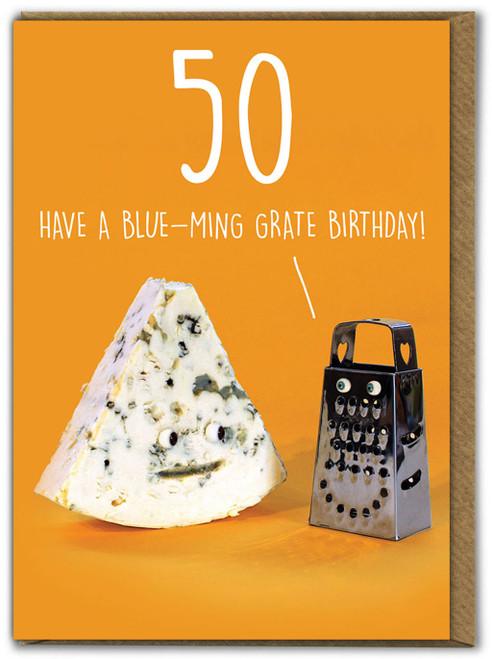 Blue-ming grate 50th Birthday