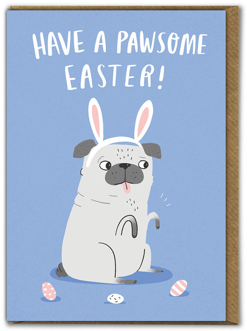 Pawsome Easter Card