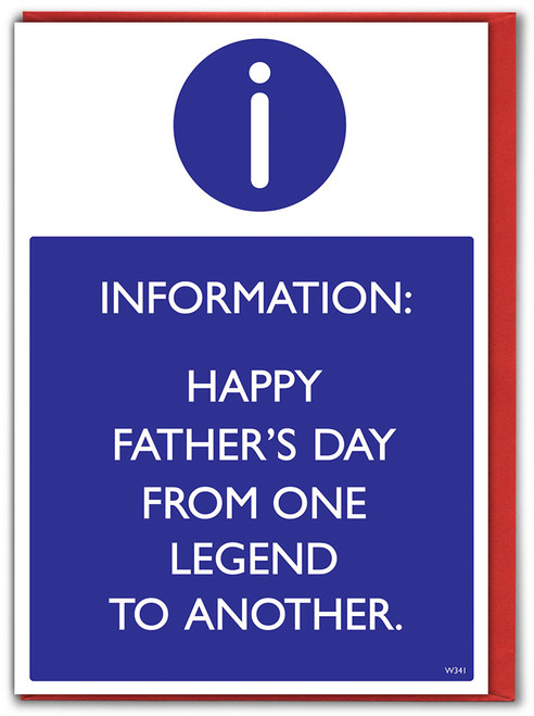 One Legend To Another Father's Day Card (W341)
