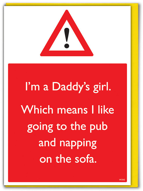 Daddy's Girl Father's Day Card