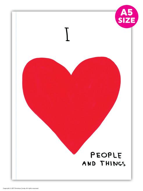 David Shrigley I Love People A5 Notebook