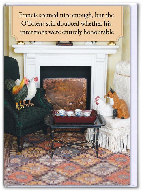 Francis The Fox Birthday Card
