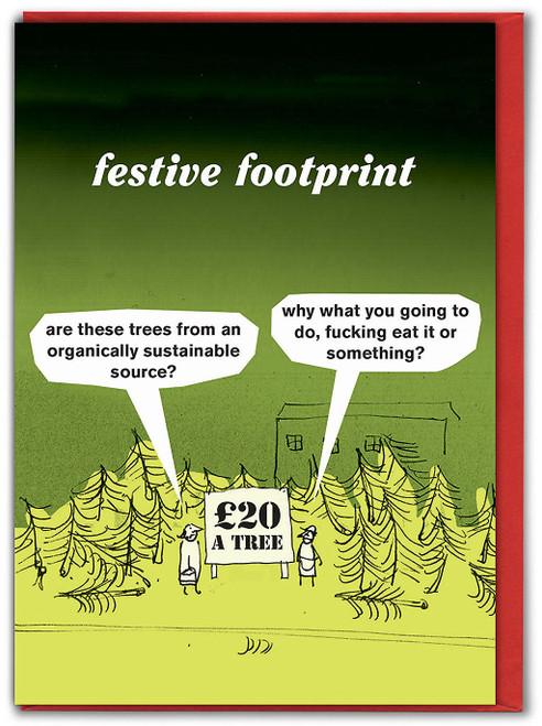Festive Footprint Christmas Card