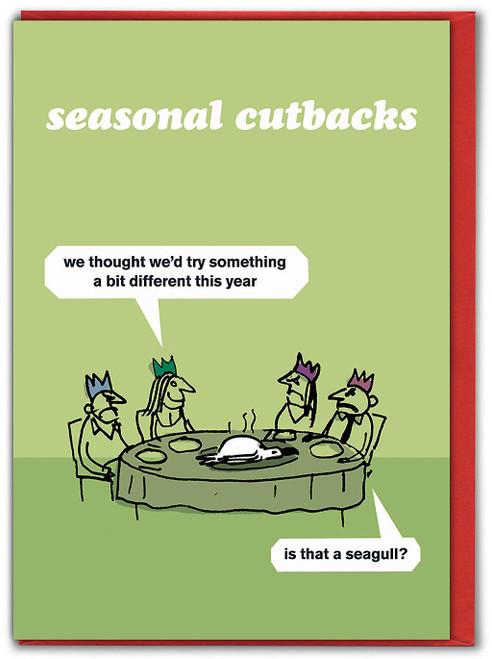 Seagull Cutbacks Christmas Card