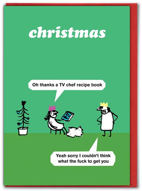 Recipe Book Christmas Card