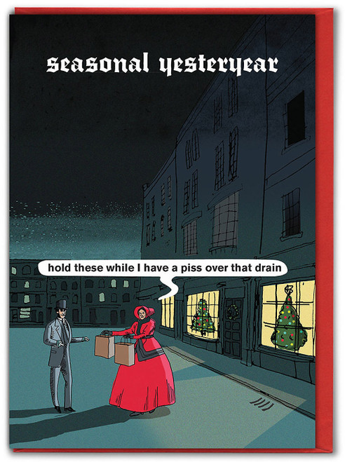Seasonal Yesteryear Christmas Card