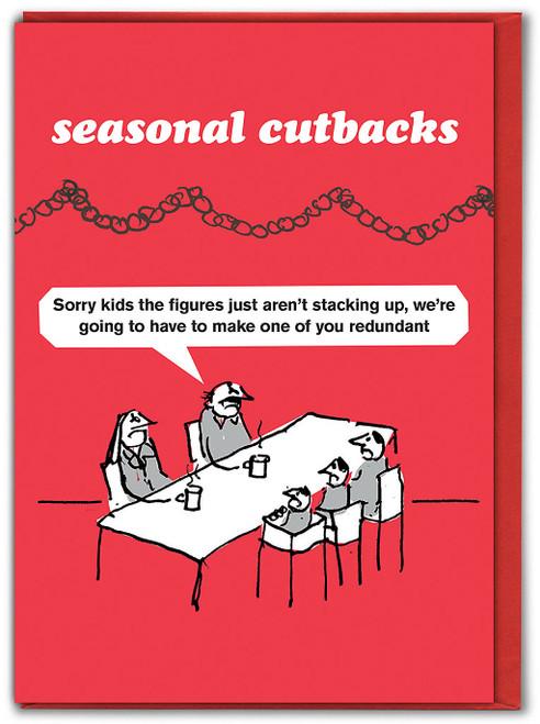 Seasonal Cutbacks Kids Christmas Card
