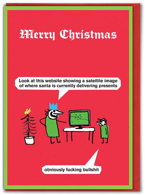 Santa Website Christmas Card