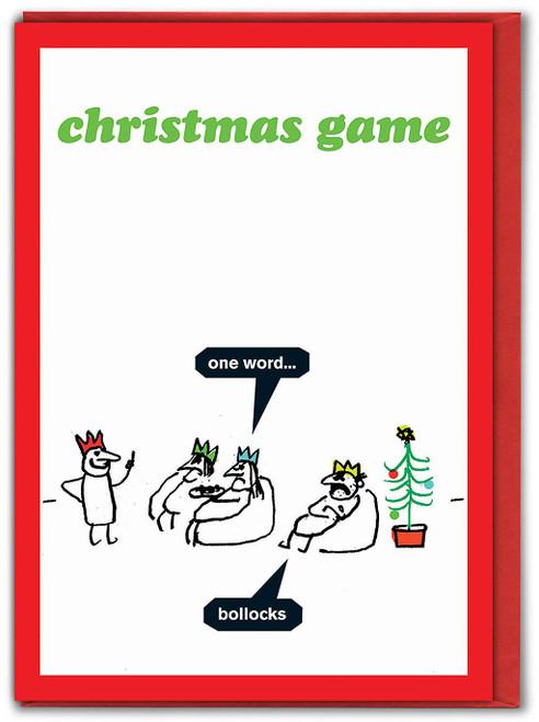 Christmas Game Card