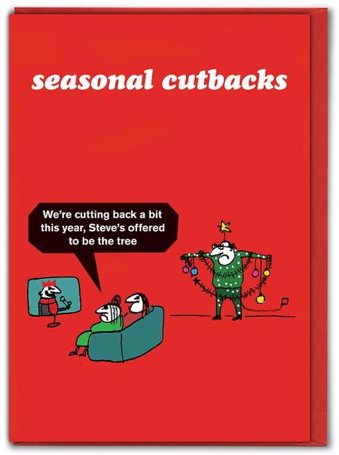 Seasonal Cutbacks Tree Christmas Card