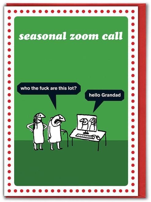 Seasonal Skype Call Christmas Card
