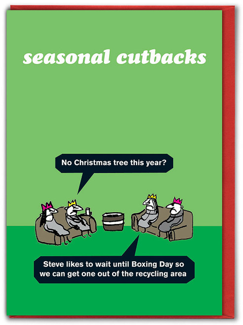 Recycled Tree Christmas Card