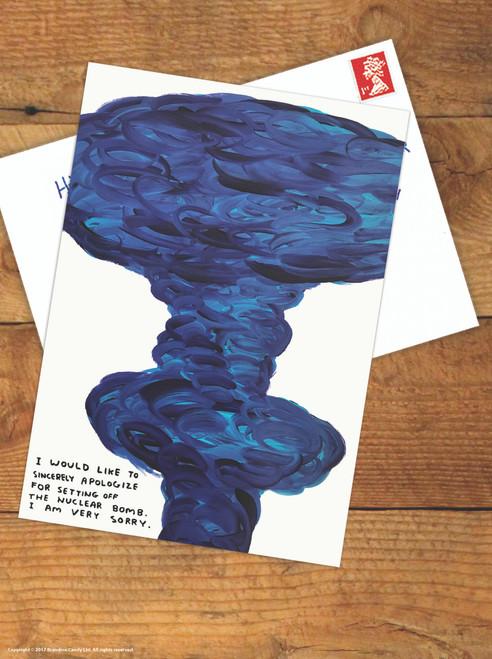 David Shrigley Nuclear Bomb Postcard